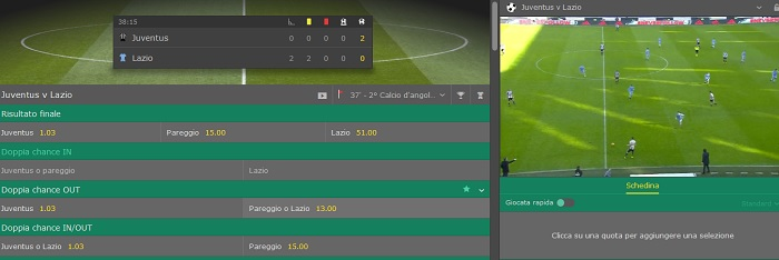 streaming Serie A bet365